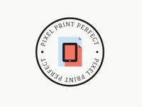 Pixel Print Perfect Logo