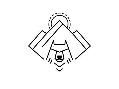 the quiet wolf logo simple illustration flat adobe photoshop