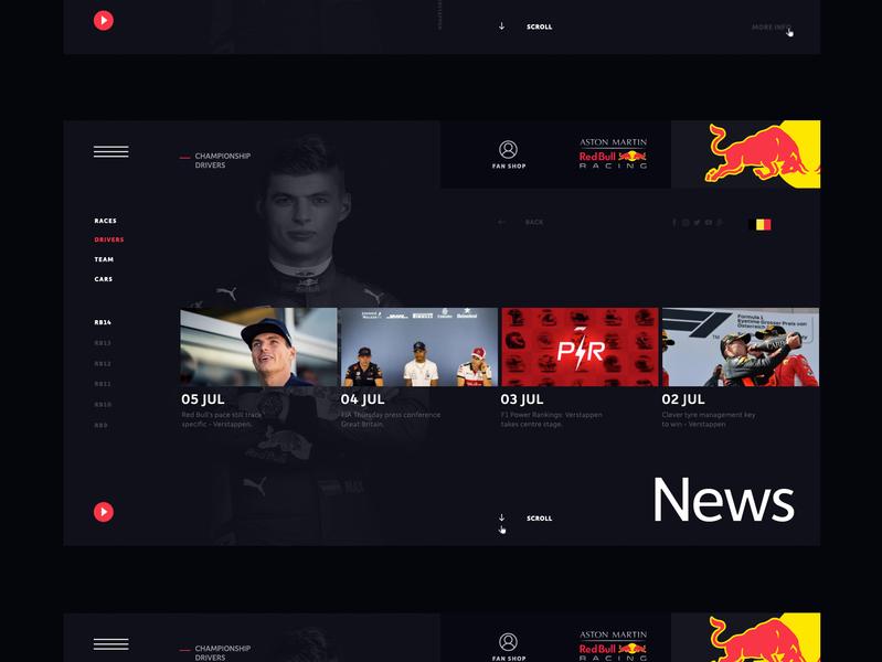RBR - Red Bull Racing Team I Website f1 verstappen website rbr red bull