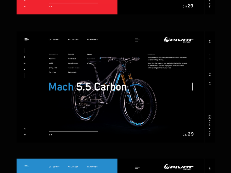 Pivot Cycles  I Webstore bicycles webdesign ux design layout cycles pivot minimalist design webstore bike