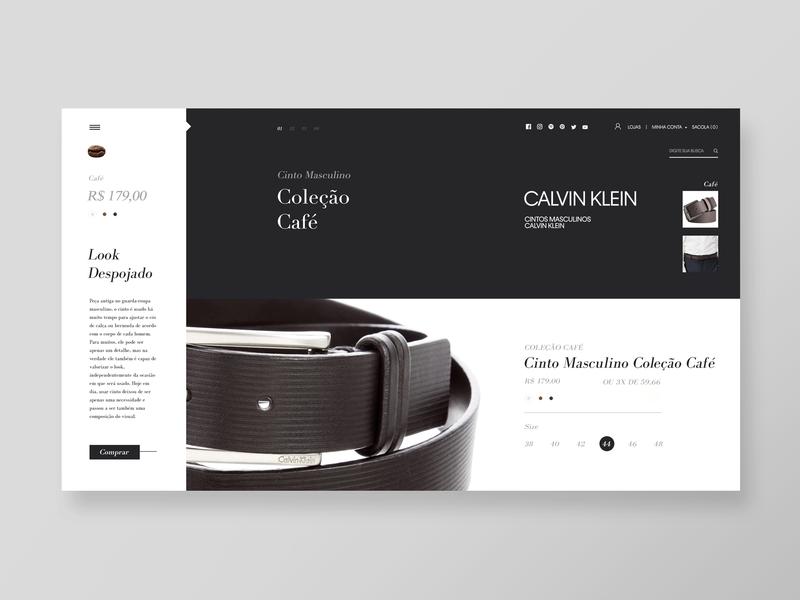 Leather CK Buckle Belt  I  Webstore buckle belt design webstore web minimal website calvin klein leather
