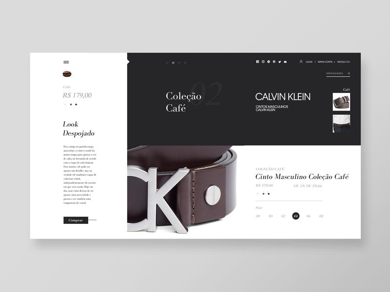 Leather CK Buckle Belt I Webstore (Belt_02) webstore website web minimal leather design calvin klein buckle belt
