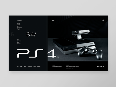 SONY  I  PLAYSTATION 4 WEBSTORE video games game design webstore web minimal website ps4 playstation 4 sony
