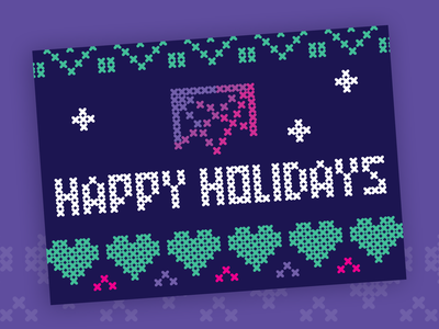 Happy Holidays from Mesosphere vector design illustration