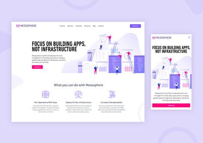 Mesosphere Homepage Refresh