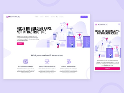 Mesosphere Homepage Refresh web ui branding illustration design