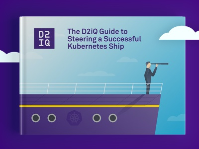 D2iQ Kubernetes Ship eBook illustration design ebook design marketing content ebook