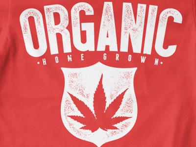 T Shirt Design 1467 organic indica leaf weed grass shield symbol home grown tshirt print