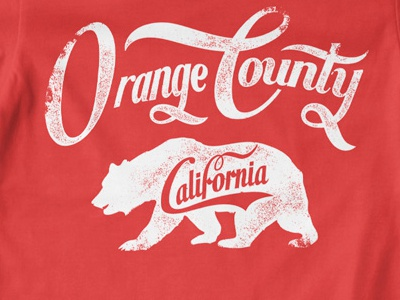 T Shirt Design 1487 bear orange county california logo animal t-shirt print typography