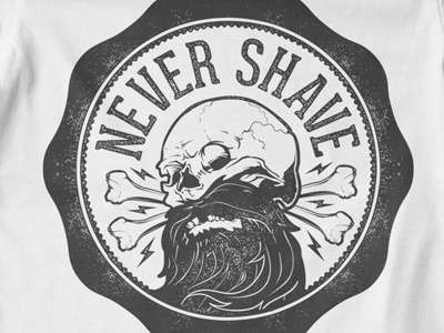 T Shirt Design 1494 shave skull bones movember november beard skull design