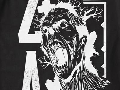 T Shirt Design 1495 zombie apocalypse zombie apocalypse dead deadly death killer t-shirt design t-shirt print