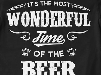 T Shirt Design 1498 beer carol christmas song parody christmas time christmas print typography