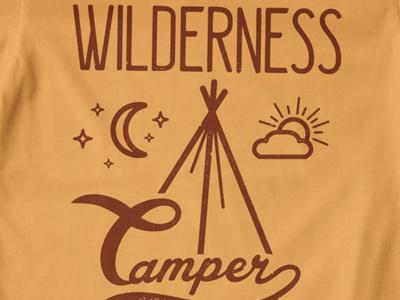 T Shirt Design 1501 wilderness wild camper camping nature tent