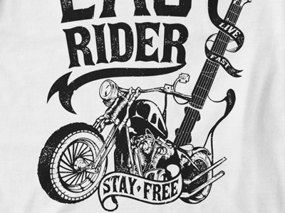 T Shirt Design 1508 motorcycle bike biker print guitar