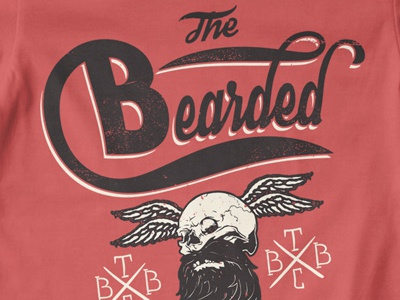 T Shirt Design 1514 beard skull typography
