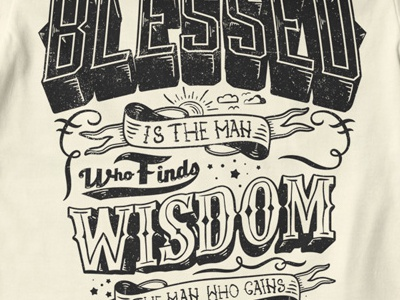 T Shirt Design 1515 typography wisdom quote hand lettering handlettering blessed bliss