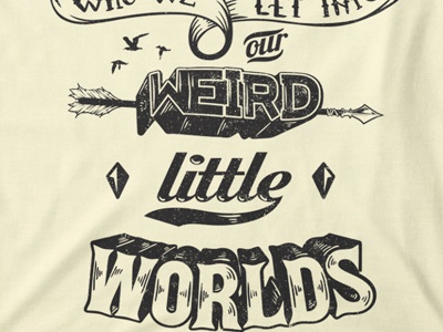 T Shirt Design 1517 typography handlettering weird quote