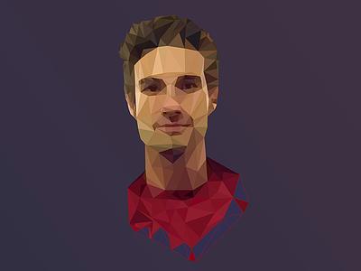 My polygon portrait polygon flat portrait illustrator illustration face
