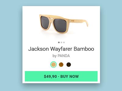 Daily UI - E-Commerce Shop (Single Item) flat design flat sunglasses buy product ecommerce contest ux design ui