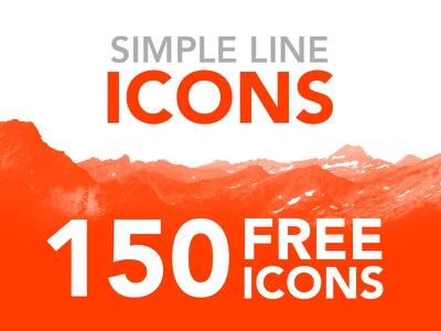 Simple Line Icons FOR FREE! mockup wireframe app web illustration ui pack resource free design icons icon