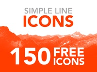 Simple Line Icons FOR FREE!