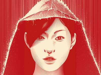 Say Hello rain red fashion sketches sketch design illustrator illustration