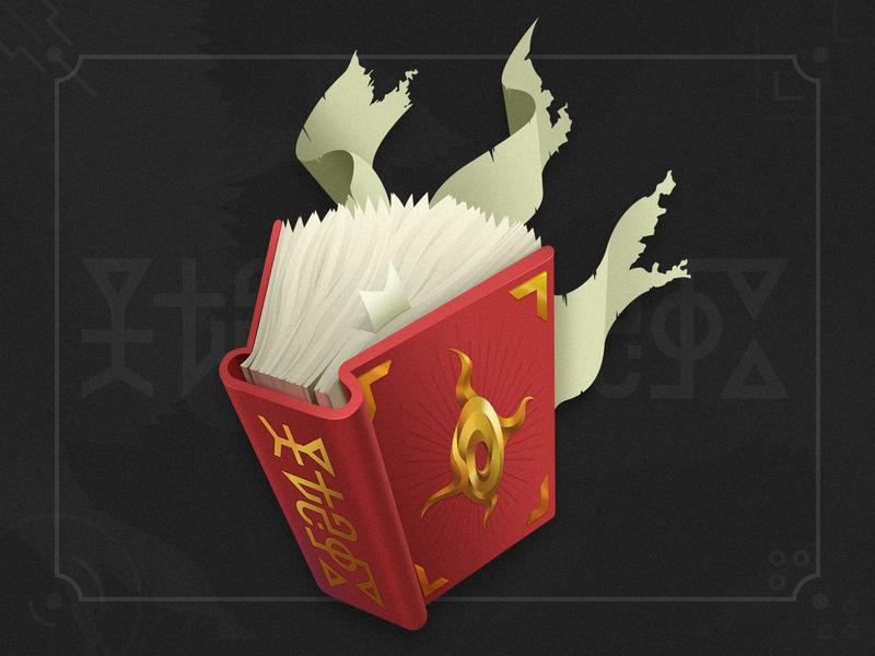 magical book game book magic illustration