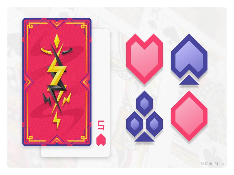 Card illustration poker card