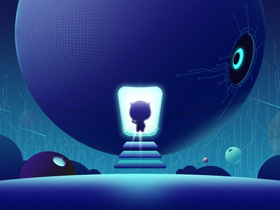 Spaceship technology spaceship illustration