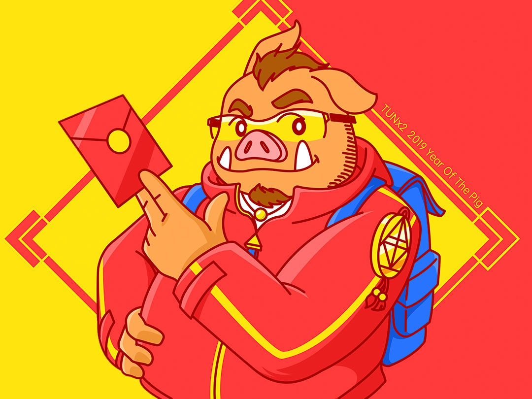Year Of The Pig pig illustration