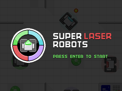 Super Laser Robots ui retro icon robots pixel art games ngj15