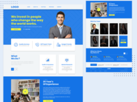 Investment Company Landing Page
