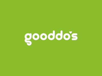 Gooddo's Logo custom typeface custom font custom type typeface font logo love green do good feelgood