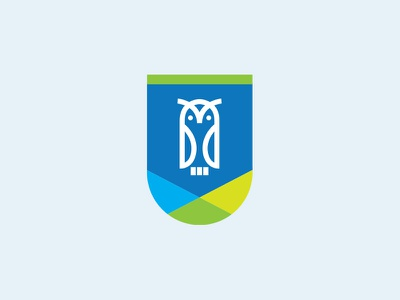 Reading Badge blue green modern logo bagde