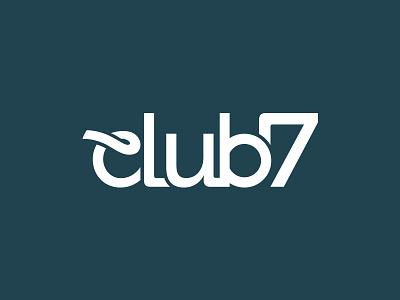 Club 7 Logo urban dance night night life logo logo