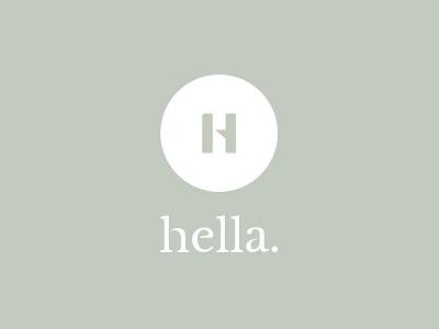 Hella Logo green name branding h logo
