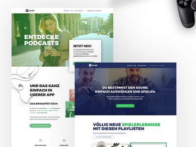 Spotify Landingpages illustration webdesign design app design digitalstudio branding app development berlin agency app ux  ui ux spotify
