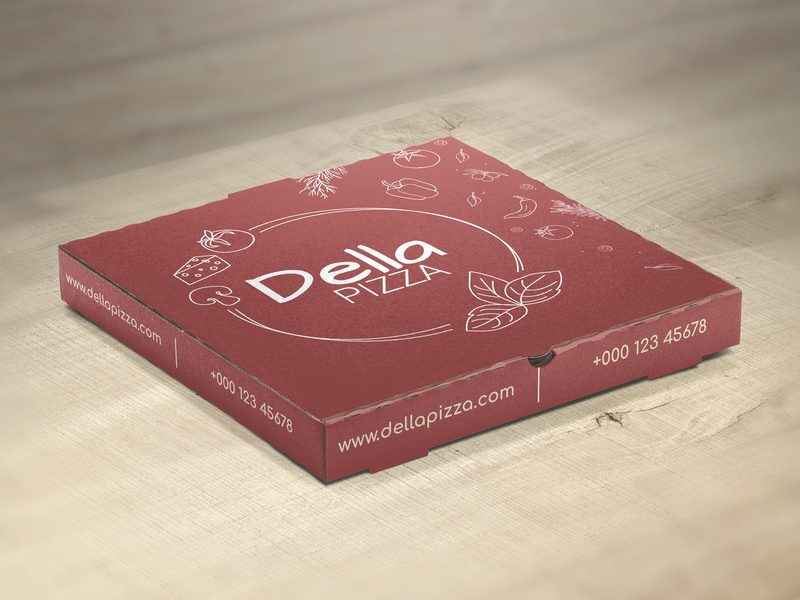 Pizza Box pizza box adobe illustrator package design mock up vector design