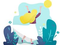 Flat girl Illustration