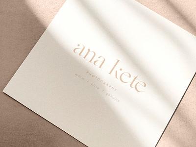 ana kete branding custom font design brand identity photographer logo typographic logo typeface design typeface custom type dots cleverlogo simplicity logodesign typography logo branding design