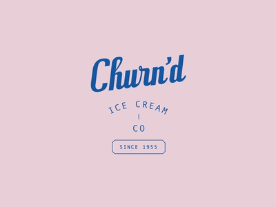 Churn'd Ice Cream Branding
