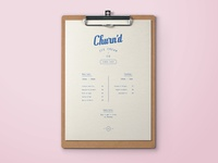 Churn'd Ice Cream Menu Design