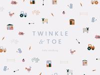 Twinkle & Toe Branding & pattern design