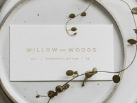 Willow and Woods Business Card