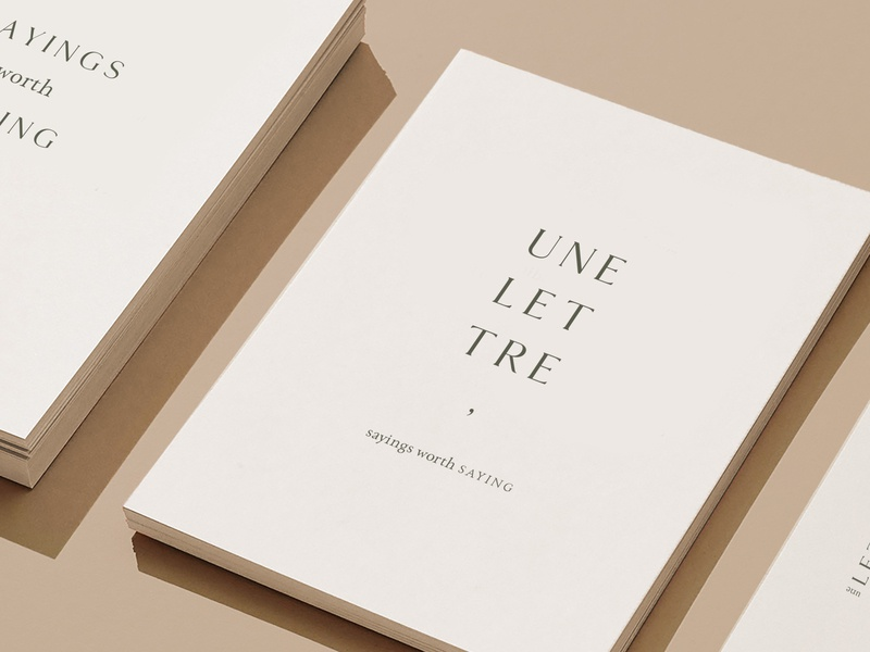 Une Lettre Branding quotes lettre letter layout font elegant typography design branding
