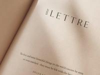 Une Lettre Branding Collateral Design