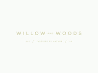 Willow and Woods brand logo