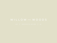 willow and woods Secondary brand earth colour