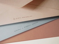 Beautiful colour palette for Minali Brand