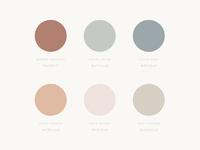 Soft colour palette for Minali Brand